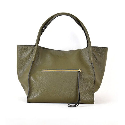 XL Shopper Leather Bag Olive bush princess shop online karybu