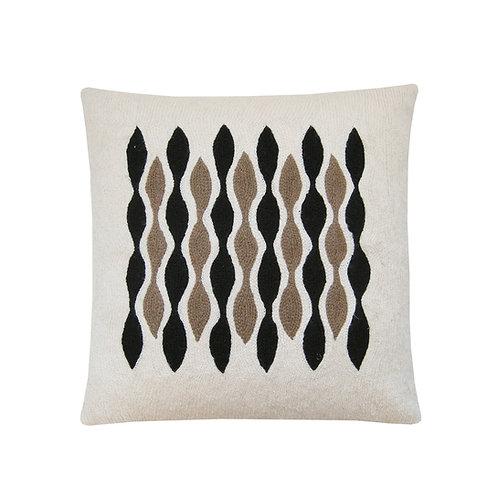 Richard Ivory Embroidered Cushion Lindell & Co. chain stitch luxury interior Karybu shop online