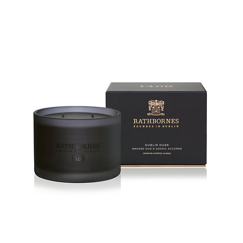 rathbornes 1488 Dublin Dusk Smoked Oud Ozonic Accords Scented Classic Candle karybu shop online