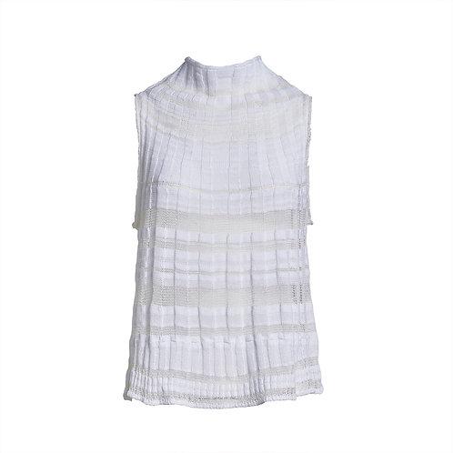 Transit Knitted Turtleneck Tank Top - White women luxury fashion spring summer 20 shop online Karybu