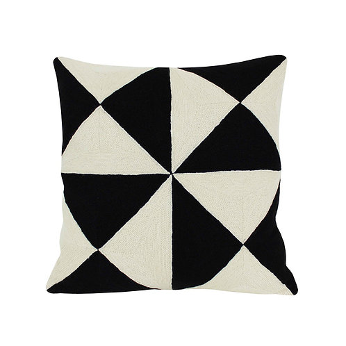 Christian Black Embroidered Cushion Lindell & Co. chain stitch luxury interior Karybu shop online