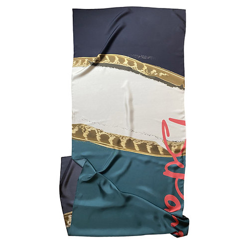 100% Silk Foulard - Plume 200 x 65 cm Be Parisian Luxury fashion Karybu shop online