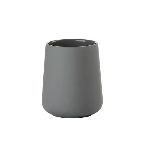 Zone Nova One Toothbrush Mug, Grey bath accessories luxury interior furniture tinos karybu shop online