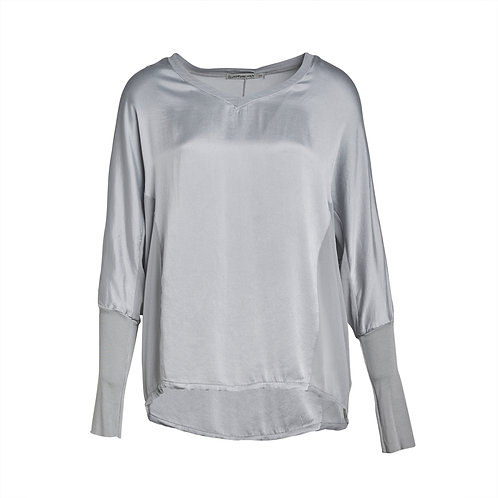 Transit Long-sleeve Silk Shirt - Light Grey women luxury fashion spring summer 20 shop online Karybu