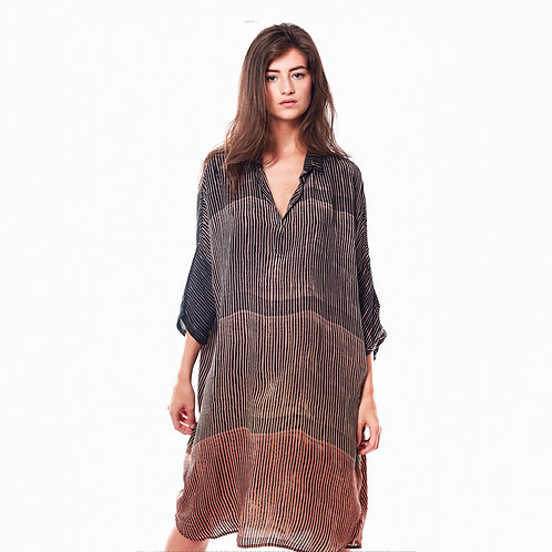 Nous Dress Fanny Black/Coral ethical luxury high end fashion karybu shop online