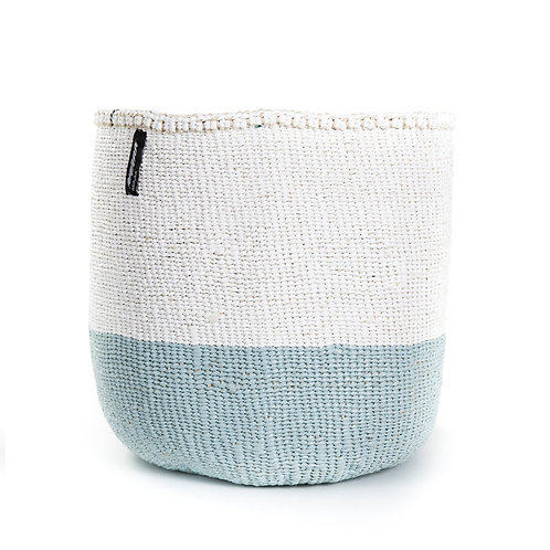 Mifuko 50/50 Basket Kiondo Medium Light Blue Luxury interior accessories natural Karybu concept store shop online