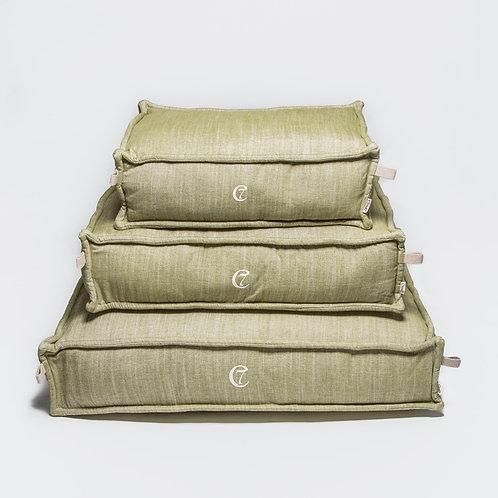 Dog Bed Cozy Melange Green Cloud7 Dog Accessories Pet luxury shop online Karybu
