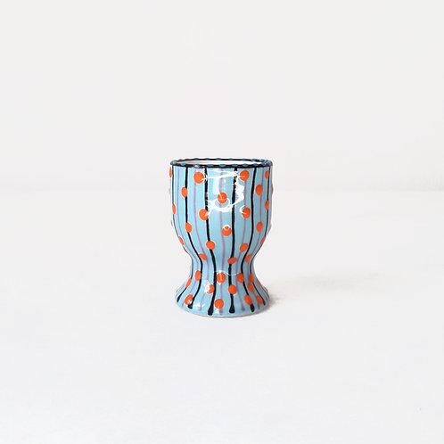 hand-painted karybu shop online ceramics African design kitchenware kitchen accessories Egg Cup Orange-Blue