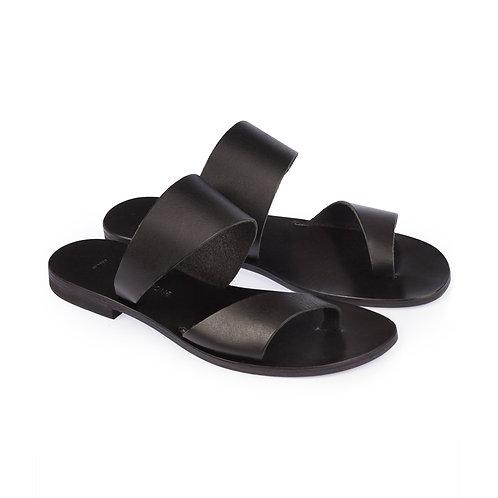 Zeus & Dione - Apollo Leather Sandals Black luxury fashion spring summer resort collection 19 shop online Karybu