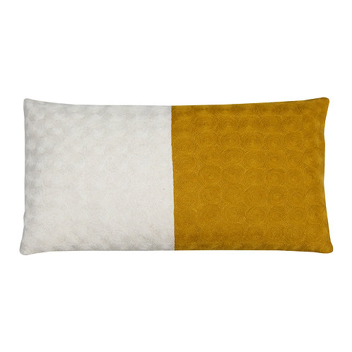 Nelson Yellow Embroidered Cushion