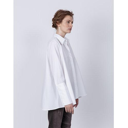 Hana San Shirt Seto White luxury high end fashion karybu shop online