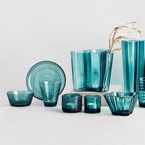 Iittala Kastehelmi Votive Candleholder 64 mm Sea Blue luxury interior home karybu shop online