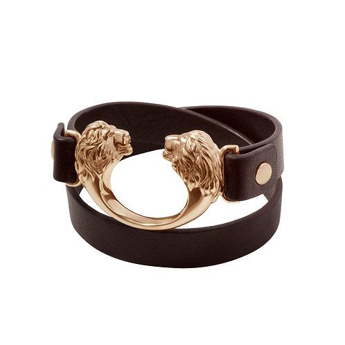 Loewenkind Bracelet Silver Rose Gold-plated & Leather