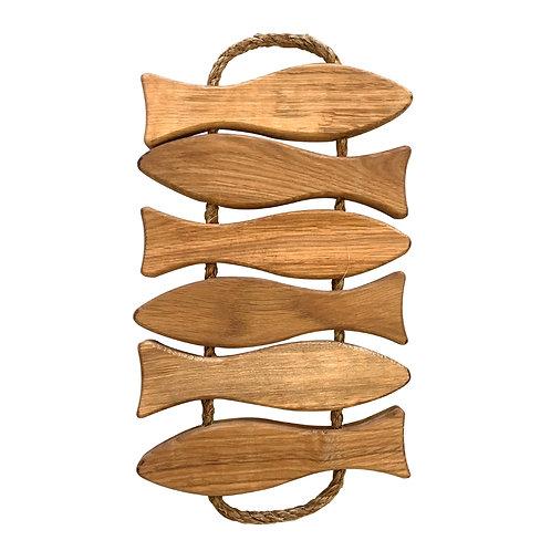 Ecofurn Oak Wood Fish Coaster Large