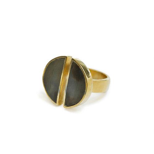 Soko jewellery Split Moon Ring karybu luxury fashion shop online