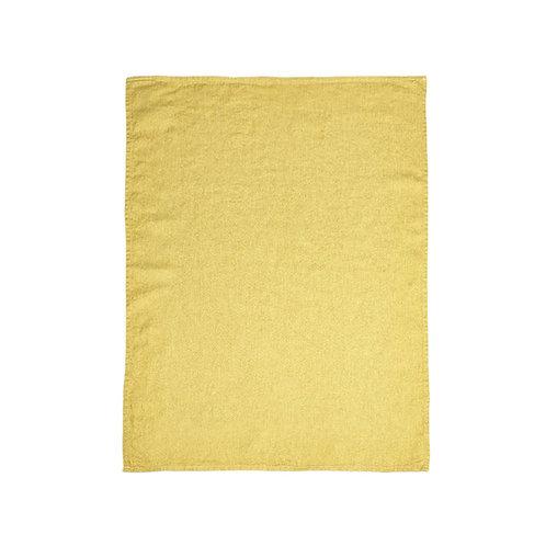 Quinten Guest Towel Mustard 60x80cm Herringbone luxury interior belgian linen shop online karybu