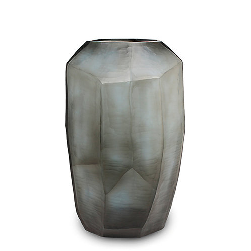 Guaxs Vase Cubistic Tall Indigo/Smokegrey luxury interior furniture Tinos shop online karybu