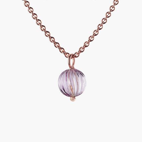 Sophistiquée Pendant No. 2 Amethyst 9mm Gold 18k Nana Fink luxury jewellery jewelry shop online Karybu
