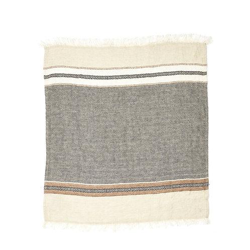 The Libeco Belgian Towel Fouta Beeswax Stripe 110x180cm luxury interior belgian linen shop online karybu