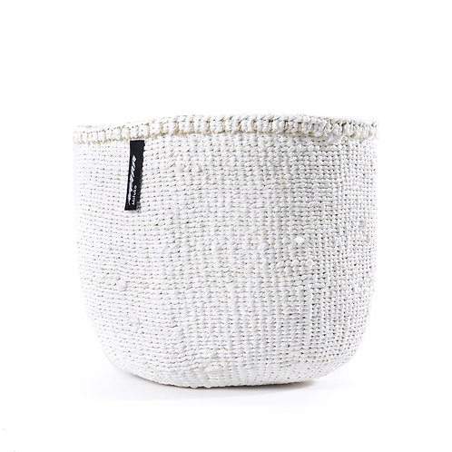 Mifuko One Colour Basket Kiondo Small White Luxury interior accessories natural Karybu concept store shop online