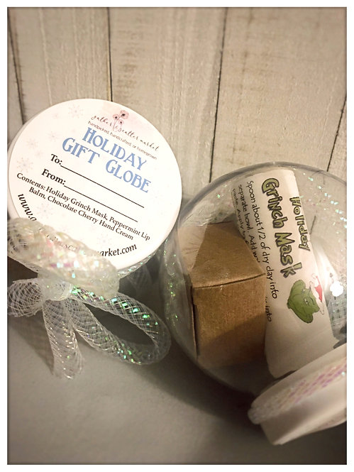 Holiday Gift Globe filled Ornament