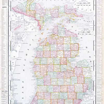 A map of Michigan, USA from Spofford's A