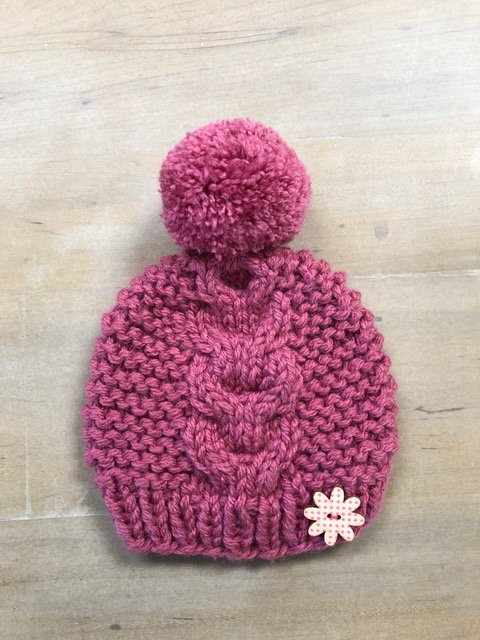 Pink Cables Hat