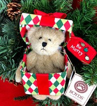 "Boyds ""Be Merry"" Bears from the Heart Collection"