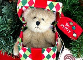 """Boyds """"Be Merry"""" Bears from the Heart Collection"""