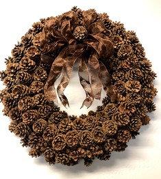 Oversized Pinecone Wreath