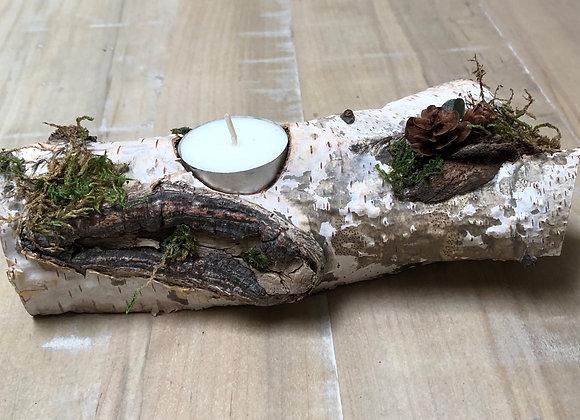 Birch Tealight Log