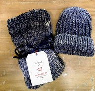 Hand Knitted Hat & Scarf Set