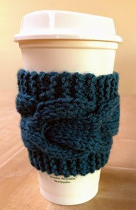Teal Cup Cozy