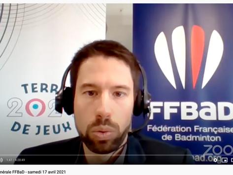 FFBAD - L'AG en ligne, Jérôme Careil DTN