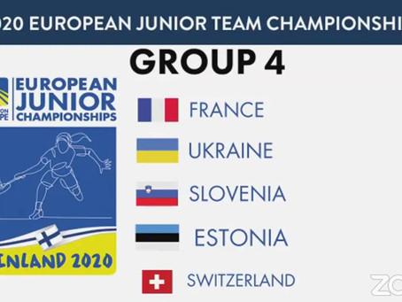 EUROPE JUNIOR - Tirage au sort de l'épreuve par équipe