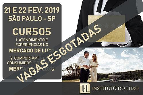 SÃO PAULO CURSOS PARA O MERCADO DE LUXO 21 + 22 DE FEVEREIRO