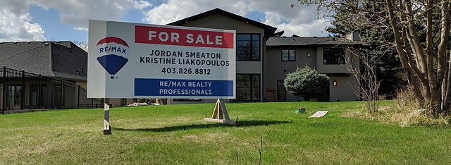Remax For Sale Sign Calgary