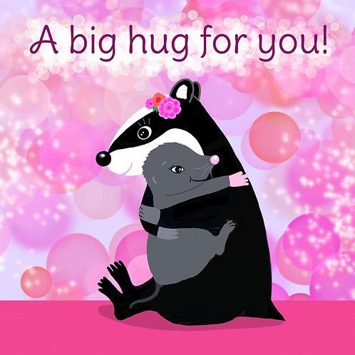 Greetings Card - A big hug for you