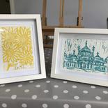 Two Lino Prints