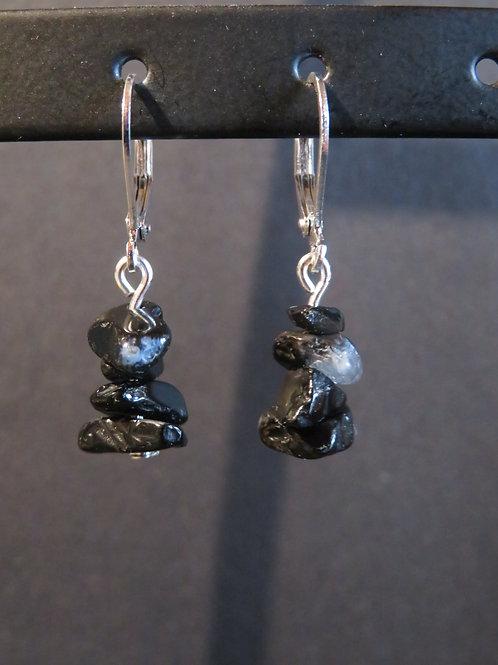Boucles courtes Agate noire