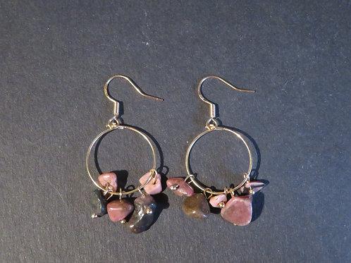 Petits anneaux Rhodonite multicolor