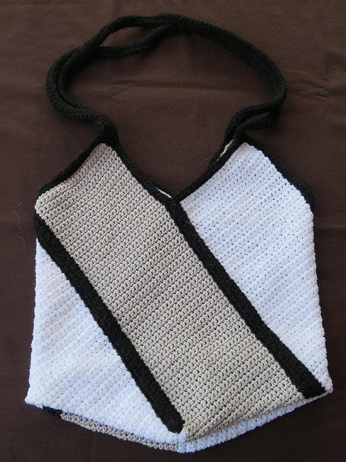Sac à main blanc et gris