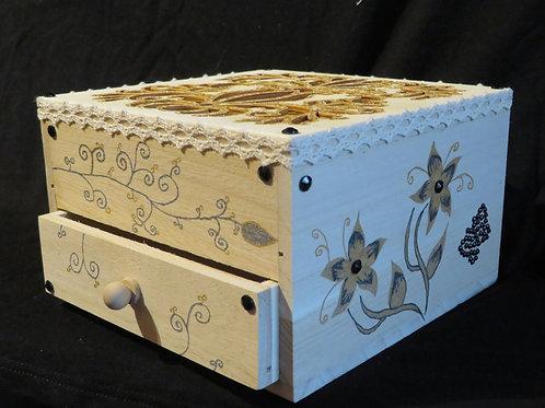 Boîte à bijoux or