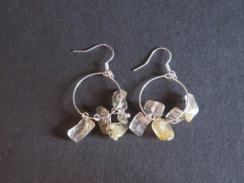 Petits anneaux Rutile quartz