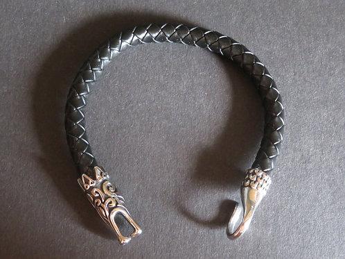 Bracelet viking tête de serpent