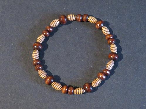 Bracelet perles torsadé