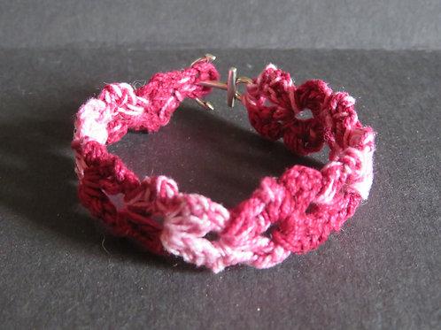 Bracelet coton bariolé