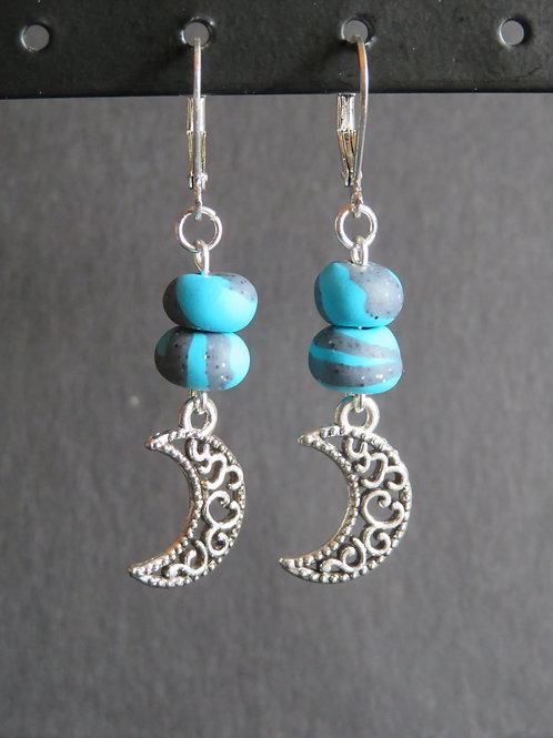 boucles lunaire bleu