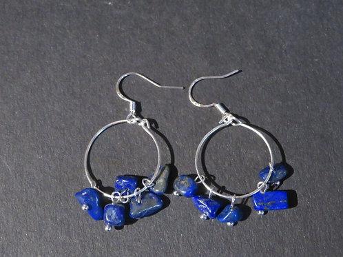 Petits anneaux Lapis Lazuli