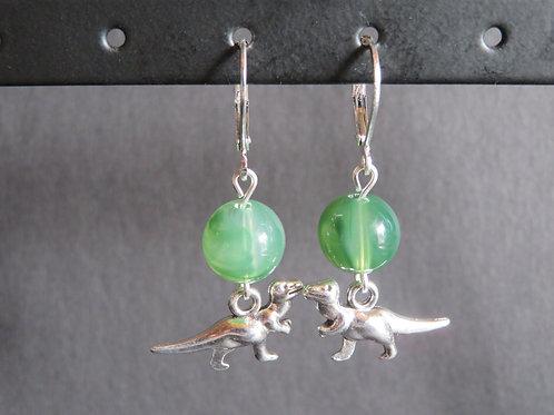 Boucles T-rex vert